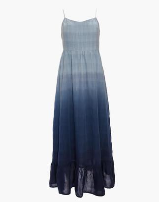 Madewell Dip-Dye Cami Pintuck Ruffle Dress
