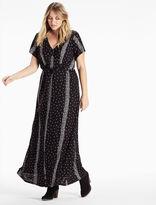 Lucky Brand Striped Ditsy Maxi Dress