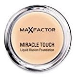 Max Factor 2 x Miracle Touch Liquid Illusion Foundation- Bronze 80 11g by