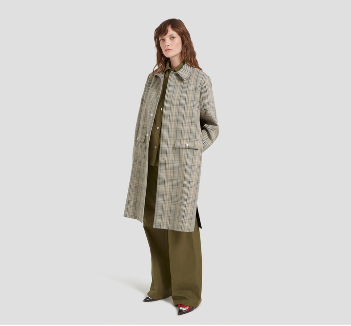 Mulberry Willow Coat Military Tartan Check Toile