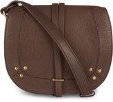Jerome Dreyfuss Moka Leather Victor Saddle Bag