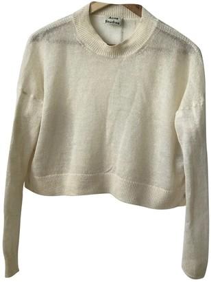 Acne Studios Ecru Wool Knitwear for Women