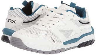Geox Kids Tuono 2 (Little Kid/Big Kid) (White/Blue) Boy's Shoes
