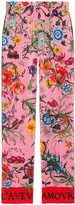 Gucci Silk flora print pants