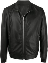 Drome Zipped Leather Bomber Jacket