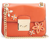 MICHAEL Michael Kors Women's Sloane Flowers Editor Small Chain Shoulder Bag Orange