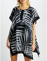 John Lewis Balinese Palm Print Kaftan, Black