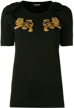 DSQUARED2 lion motif T-shirt