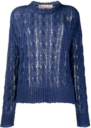 Marni Cable-Knit Oversized Jumper