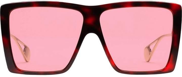 43e99669cd Red Frame Square Sunglasses - ShopStyle