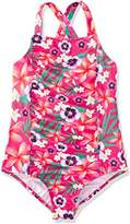 RED WAGON Girl's Multifloral Swimsuit