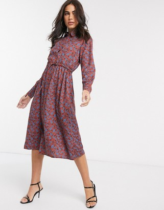 People Tree midi dress in paisley print