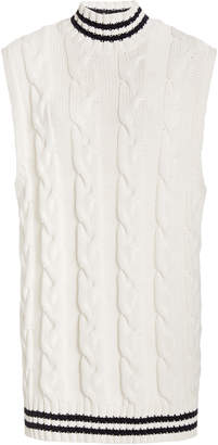 Ganni Cotton Cable Knit Vest