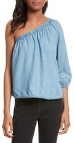 Rebecca Minkoff Women's Harmony One-Shoulder Chambray Top