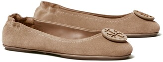 Tory Burch Minnie Travel Ballet Flat, Suede