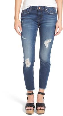 Vigoss Jagger Distressed Raw Hem Skinny Jeans
