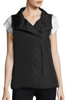 Eileen Fisher Petite Stand Collar Puffer Vest