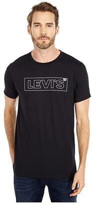 Levi's Big E Boxtab Outline Tee (Black/White) Men's Clothing