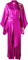Carine Gilson lacy long kimono - women - Silk - M