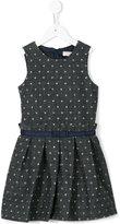 Lili Gaufrette polka-dot herringbone dress