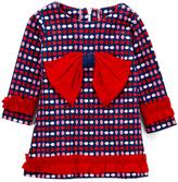 Red Eggdrop Bow A-Line Dress