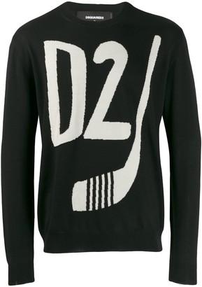 DSQUARED2 D2 logo jumper