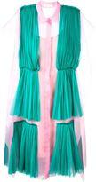 DELPOZO pleated overlay shirt dress - women - Silk - 36