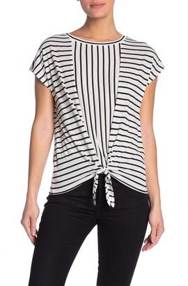 Velvet Heart Nathaly Tie Hem Stripe T-Shirt