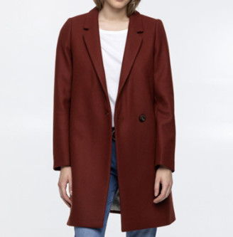 Trench & Coat - Brick Red Vesoul Overcoat - 34