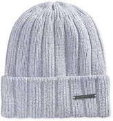 Sean John Men's Ribbed Knit Cuff Beanie, Created for Macy's Hat, Created for Macy's