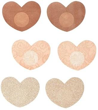 Magic Body Fashion MAGIC Bodyfashion Heart Covers 3-Pack (Rose Gold) Women's Bra