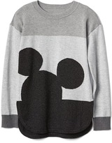 Gap GapKids | Disney Mickey Mouse shimmer colorblock sweater