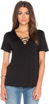 Lanston Lace Up Tee