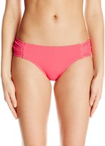 Anne Cole Women's Lace Crochet Side Tab Bikini Bottom