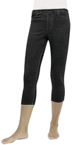 Me Moi Black Denim Capri Jeggings