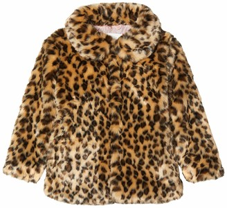 Name It Girl's Nmfmonae Faux Fur Leo Jacket