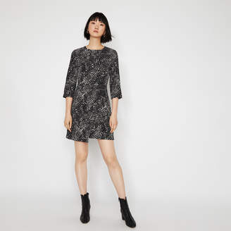 Warehouse CROC WRAP FRONT MINI DRESS