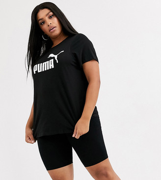 Puma Plus Essentials black logo tee