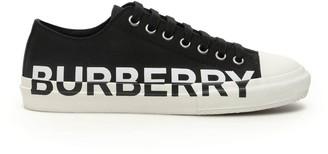 Burberry Logo Print Two-Tone Sneakers
