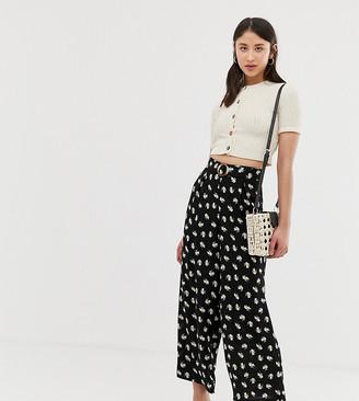 Vero Moda Tall floral wide leg cropped pant-Multi