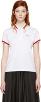 Givenchy White Logo Polo