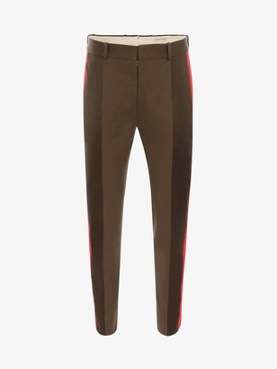 Alexander McQueen Tailored Paneled Sateen Pants