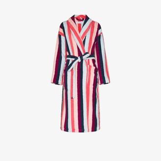 Desmond & Dempsey Medina stripe print towel robe