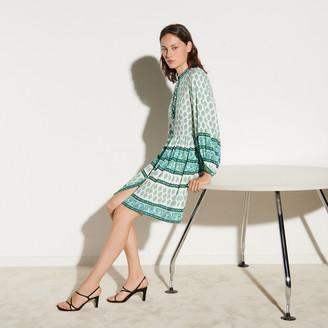 Sandro Short printed shirt dress