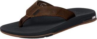 Reef Men's Leather Fanning Low Flip Flops