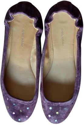 Isabel Marant Purple Suede Ballet flats