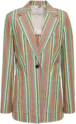 3.1 Phillip Lim Striped Slub Cotton Blazer