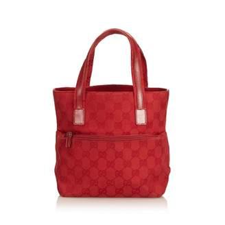Gucci Vintage Burgundy Cloth Handbag