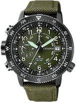 Citizen Bn4045-12x Chronograph Date Fabric Strap Watch, Khaki