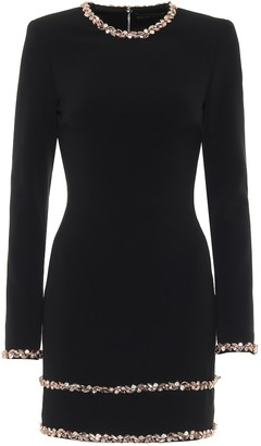 David Koma Exclusive to Mytheresa Embellished cady minidress